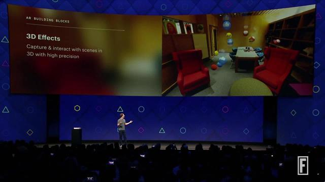 Facebook CEO explains the three of the technological building blocks for building augmented reality.