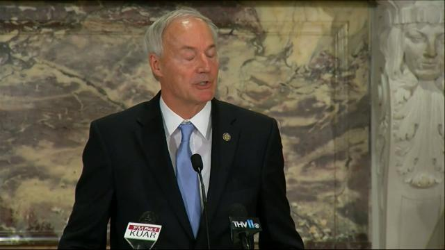 Arkansas Gov. Asa Hutchinson says he sees no reason for anything beyond a routine review of execution procedures after an inmate lurched and convulsed 20 times during a lethal injection. (April 28)