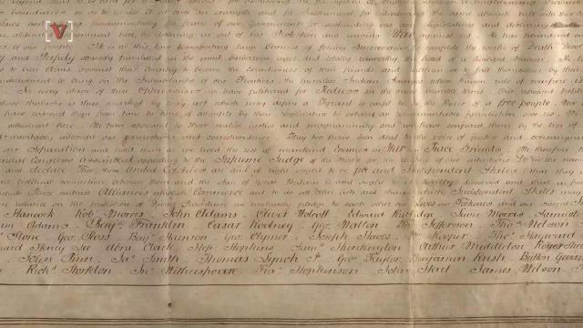 A 200-year-old copy of the Declaration of Independence was found in a record office in England. Josh King has the story (@abridgetoland).