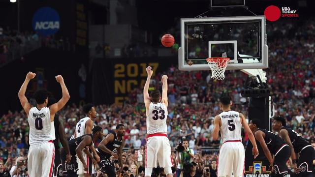 Take a step inside the locker rooms to see how Gonzaga and South Carolina players were feeling after the Bulldogs 77-73 win to advance to the National Championship game.