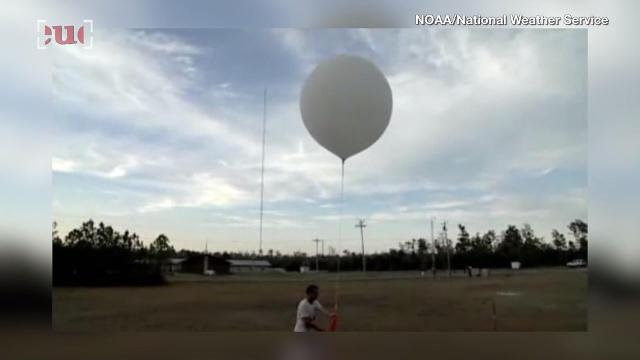 This is what it looks like when a weather balloon explodes