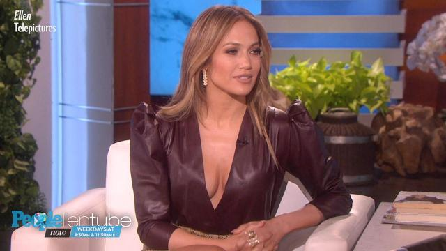Jennifer Lopez reveals how she met Alex Rodriguez on The Ellen DeGeneres Show.