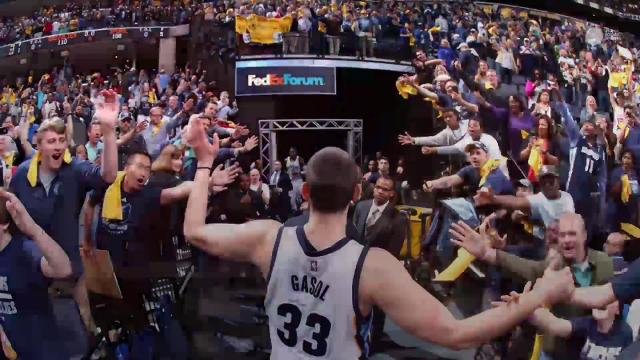 Gasol hit the game-winner for Memphis with 0.7 seconds left in overtime to help the Grizzlies even their first-round series against the Spurs at 2-2.