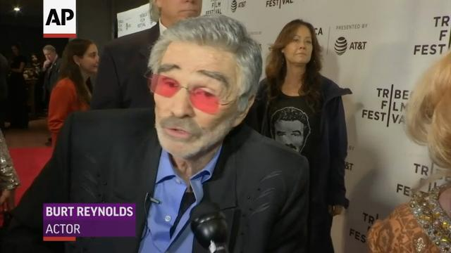 "Burt Reynolds makes a rare public appearance for Tribeca Film Festival premiere of his latest movie, ""Dog Years."" (April 24)"