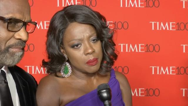 At the Time 100 Gala in New York, where she was honored, Viola Davis discusses making the list and reveals how winning an Oscar changed her life. (April 26)