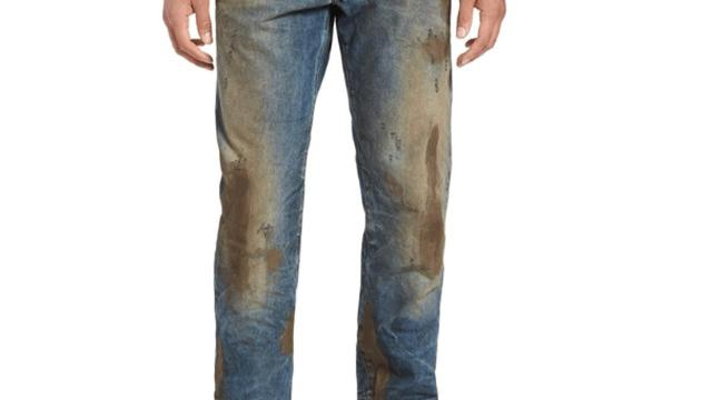 The retailer is selling mud-covered jeans for $425.