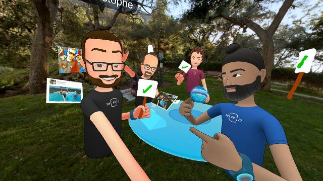 Facebook Spaces, a new virtual reality