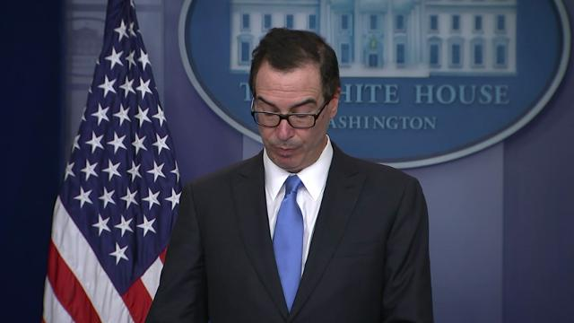 United States Treasury Secretary Steve Mnuchin announced sanctions against Syria in response to the chemical attacks that occurred in early April.