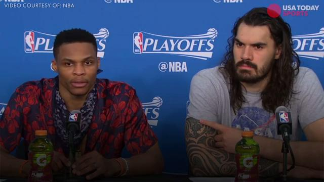 Westbrook got into it with a reporter after Sunday's loss to the Rockets in Game 4.