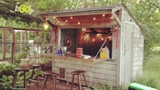 Building A Backyard Bar forget the man cave, backyard bar sheds are the way to go