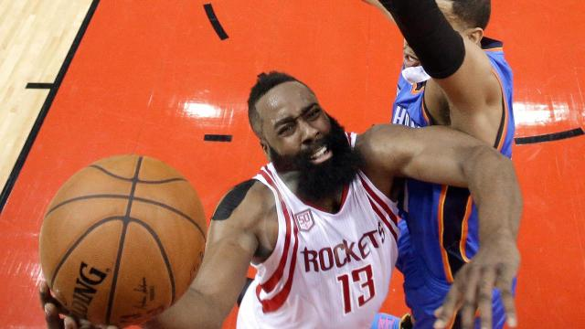 The Houston Rockets advance to the Western Conference semifinals as Russell Westbrook falls one assist shy of fourth-straight triple-double in Game 5 loss to Rockets.
