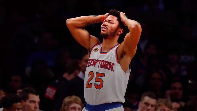 50a08c9de17d Knicks  Derrick Rose out for season with torn meniscus