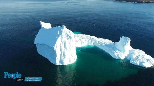Breathtaking drone footage of massive iceberg visiting Canadian town