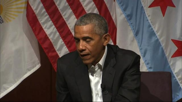 Former President Barack Obama says listening is key in today's political climate.  'Initial instinct is to tell people what they should be interested in,' said Obama, instead of listening what they are interested in. (April 24)