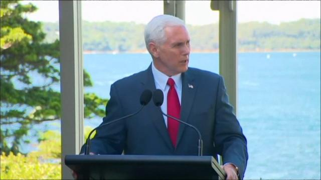 "Vice President Mike Pence said on Saturday that the United States will honor a refugee resettlement deal with Australia that President Donald Trump once dubbed ""dumb."" (April 22)"