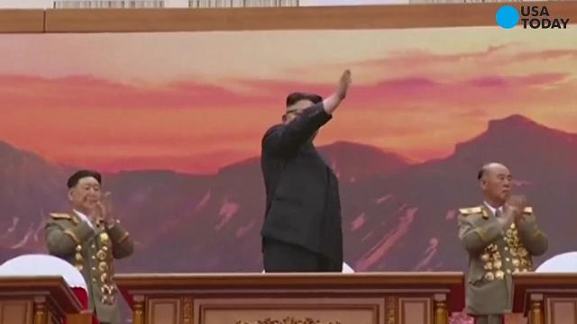 A North Korean video shows a simulated missile strike on the U.S., completely engulfing the target in flames. The video was played during a musical tribute to the late Kim Il Sung.