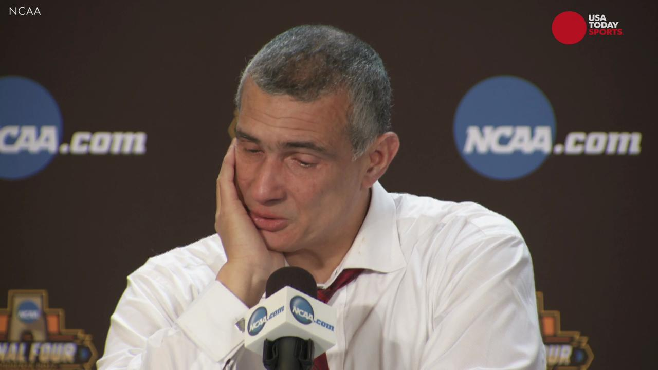 Get the tissues out. After heartbreaking loss to Gonzaga, Gamecocks coach Frank Martin breaks down talking about his team's run in the NCAA tournament, and what his seniors have meant to the program and community.