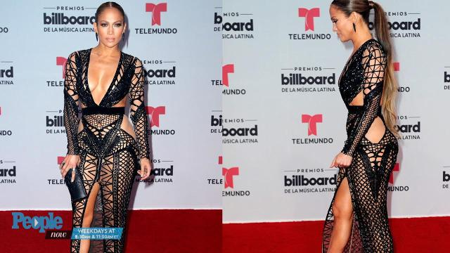 The multi-hyphenated talent abs-olutely shut down the red carpet at the Billboard Latin Music Awards in a jaw-dropping gown