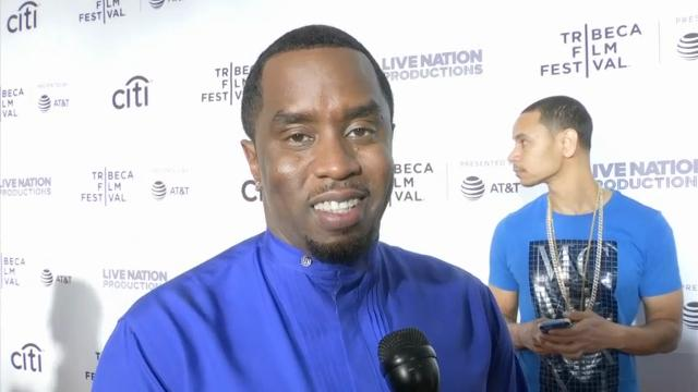 """Music mogul Sean """"Diddy"""" Combs walks the red carpet at the Tribeca Film Festival and talks about new documentary """"Can't Stop, Won't Stop: The Bad Boy Story,"""" which examines the success of Diddy's Bad Boy Records. (April 28)"""