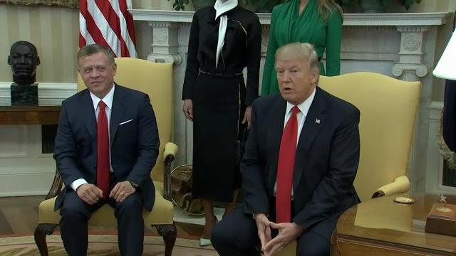 Trump welcomes King of Jordan to White House