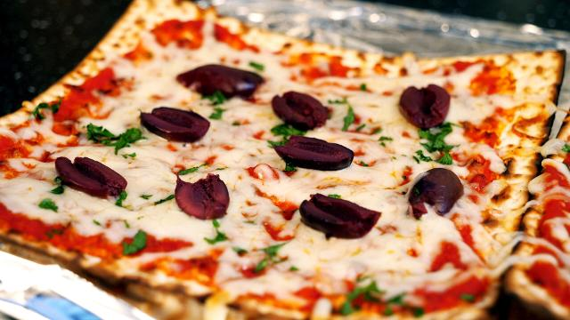 Matzo pizza is the perfect way to use up leftovers from ...