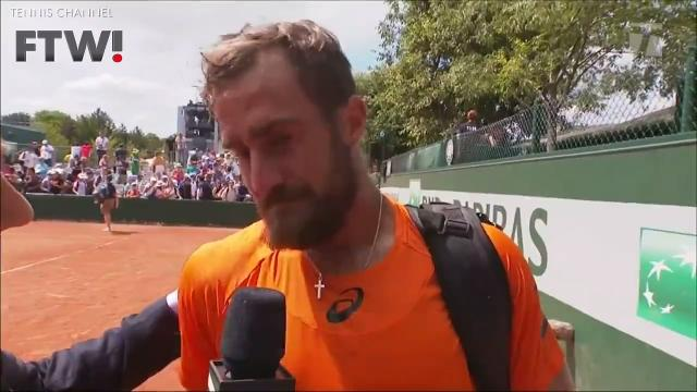 Less than a month after losing his father, tennis player Steve Johnson pulled off an emotional win over Borna Coric at the French Open.