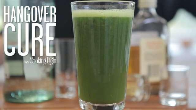 Have one too many last night? We've all been there. Instead of running to the nearest fast food joint, cure your hangover with this nutrient-packed juice. One glass of this recovery drink and you'll be back to yourself in no time.