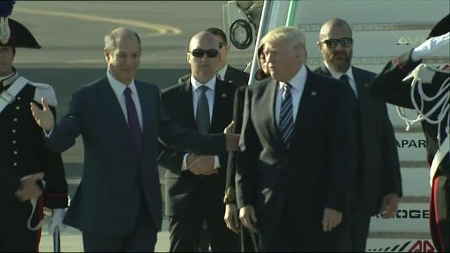 President Donald Trump has arrived in Rome for a visit with Pope Francis. The stop is the third on Trump first foreign trip and follows visits to Saudi Arabia and Israel. (May 23)