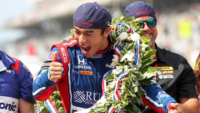 Takuma Sato won the 101st running of the Indianapolis 500 on Sunday afternoon.
