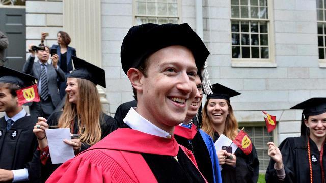 This is Mark Zuckerberg's advice to Harvard's graduation class