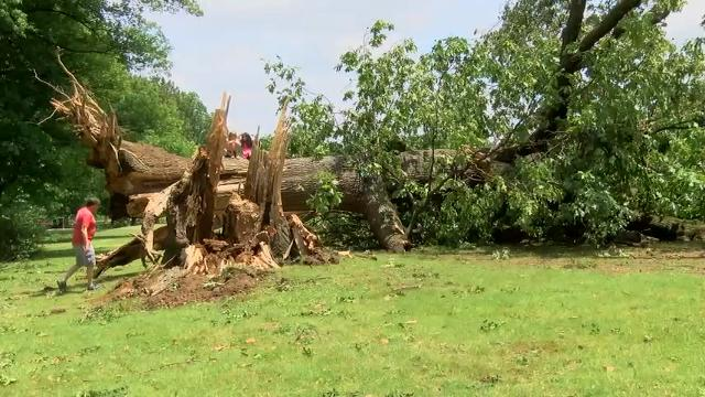 Raw: Major Power Outages in Memphis After Storm