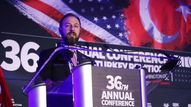 One of the hosts of a conference at President Trump's D.C. hotel is the same guy who got Michael Flynn a job lobbying for Turkey. Video provided by Newsy