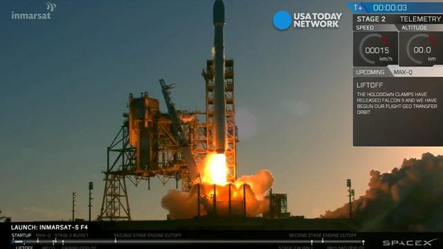 SpaceX launches satellite size of a double-decker bus