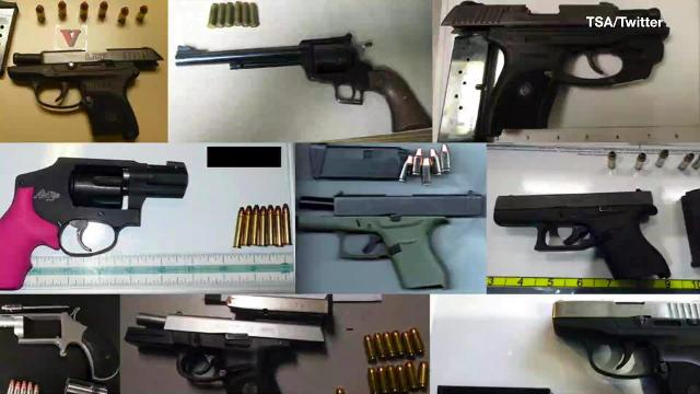 The TSA set a new record for the number of guns seized in a week. Veuer's Nick Cardona (@nickcardona93) has that story.
