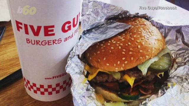 In a battle of the burger chains, America's favorite doesn't come from a place with golden arches, and a king isn't behind their grill. Five Guys took the top spot. Sean Dowling (@seandowlingtv) has more.
