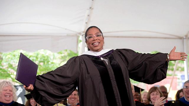 Oprah was the commencement speaker for Smith College, a women's liberal arts school in Northampton, Mass.