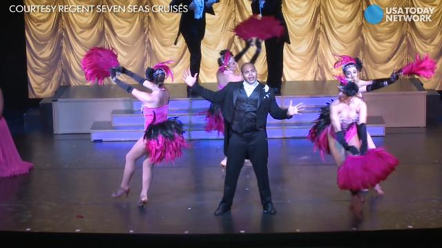 USA TODAY's Gene Sloan gets a sneak peek at Seven Seas Voyager's new show.