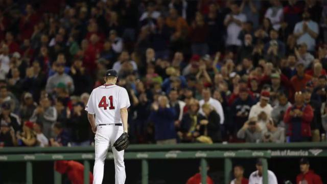 Boston Red Sox pitcher Chris Sale wasn't quite able to break the league record for most consecutive games with double-digit strikeouts, but he's still enjoying one of the best seasons in baseball.