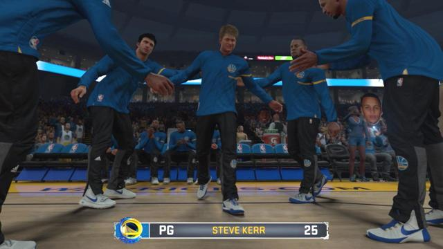 Steve Kerr and Ty Lue both have championship experience as players, so we simulated Cavaliers-Warriors with the coaches inserted into their own starting lineups.