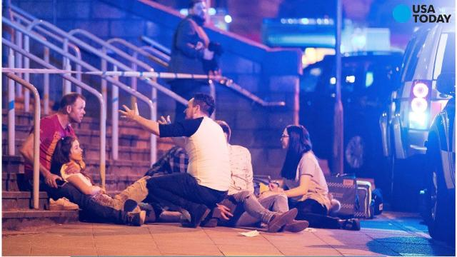 An explosion killed at least 19 people and injured dozens more at an Ariana Grande concert in Manchester, England.