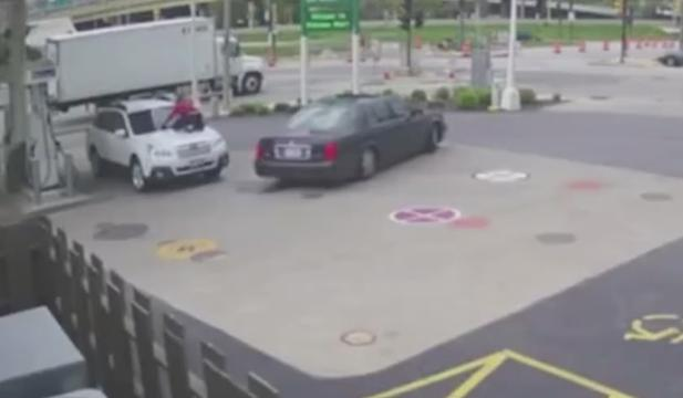 This woman will not let these would-be carjackers get away with her car. Watch as she jumps on the hood to thwart their getaway.