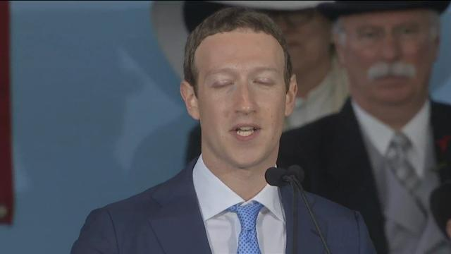 Mark Zuckerberg told graduating students at Harvard, the university he dropped out of to create Facebook, to create a purpose for today's world. (May 25)