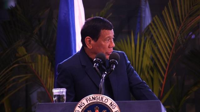 Philippine President Rodrigo Duterte says he may impose martial law throughout the nation, after declaring military rule in the southern third of the country to combat Islamist militants. Video provided by AFP