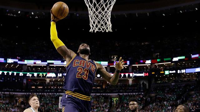 LeBron James hit another massive career milestone on Thursday, passing Michael Jordan as the NBA's all-time playoff scoring leader with his 29th point of the Cavs' game against the Celtics.