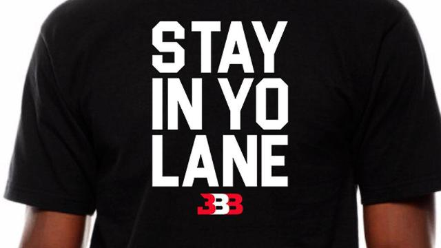 """LaVar Ball is now selling shirts on his Big Baller Brand site with the slogan """"Stay In Yo Lane"""" after his now infamous interaction with Fox Sports host Kristine Leahy."""