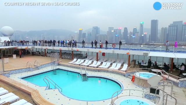 The 700-passenger luxury ship recently underwent a bow-to-stern overhaul.