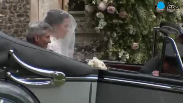 New video of Pippa Middleton & James Matthew's wedding at St. Mark's Church in Englefield, England.