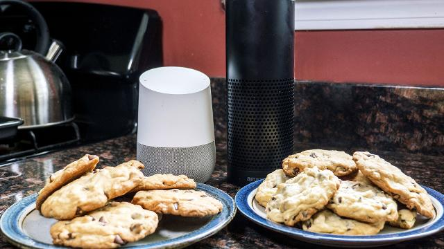 It's a chocolate chip cookie bake off starring your two favorite virtual assistants.