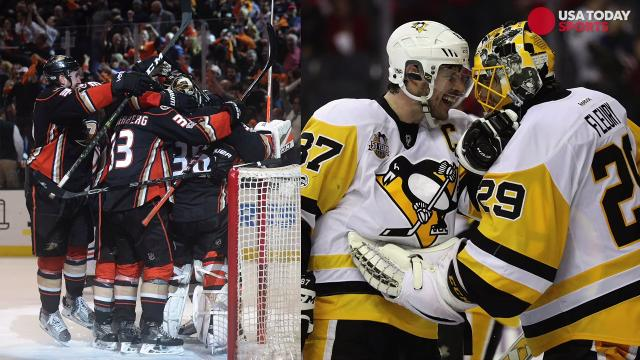 The Penguins and Ducks emerged victorious in their Game 7 matchups on Wednesday night.