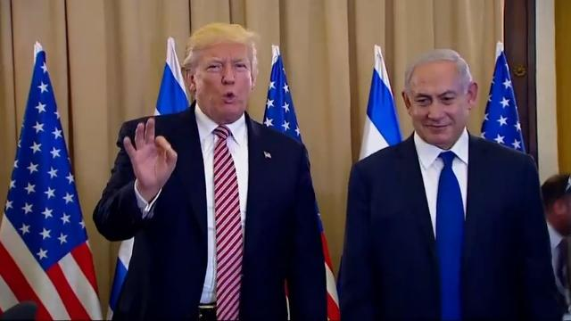 In blasting Iran, Trump woos Israel and Saudi Arabia